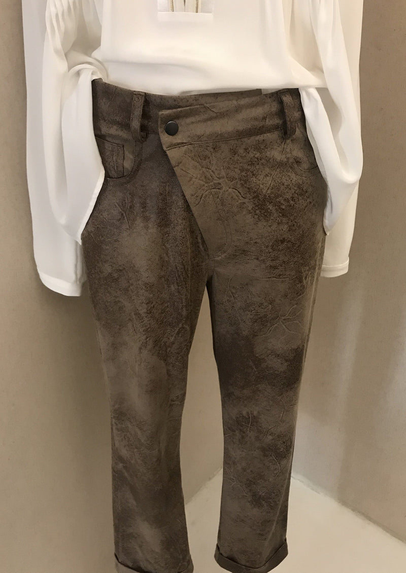 SAGRE LIGHT BROWN TROUSERS - JUSTBRAZIL