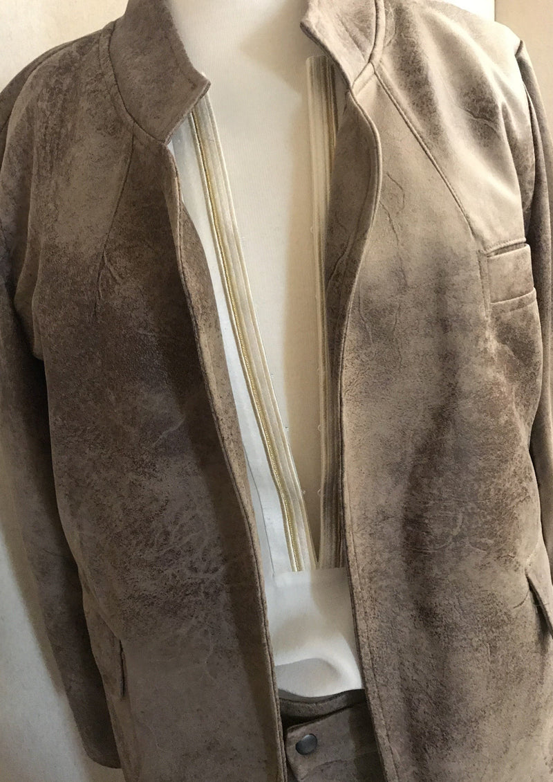SAGRE LIGHT BROWN JACKET - JUSTBRAZIL