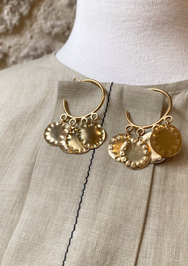 COINS HOOPS EARRINGS