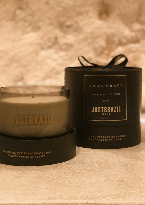 PORTOBELLO OUD SMALL BOWL CANDLE - JUSTBRAZIL
