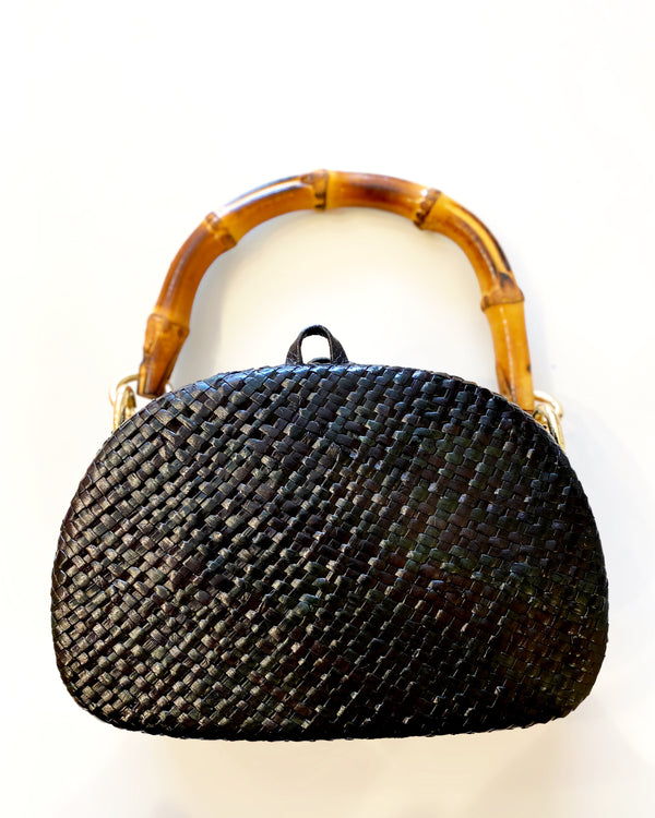 ANNE BLACK STRAW BAG - JUSTBRAZIL