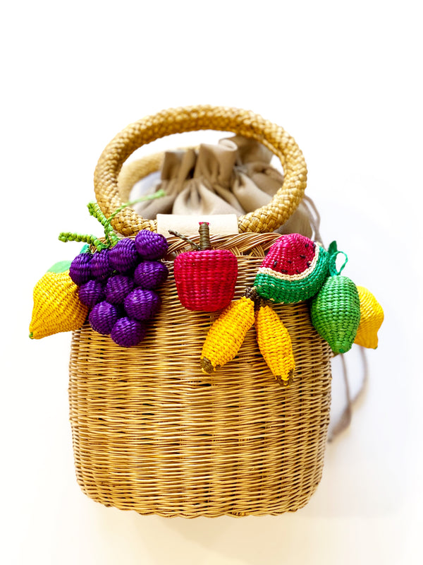 LAUREN MIX FRUITS STRAW BASKET - JUSTBRAZIL