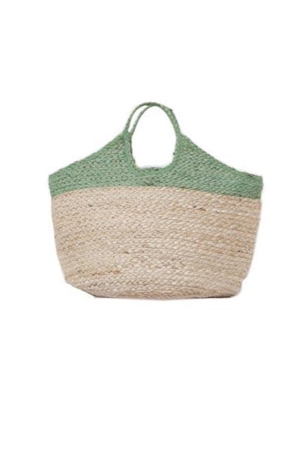 GREEN JUTE BAG - JUSTBRAZIL