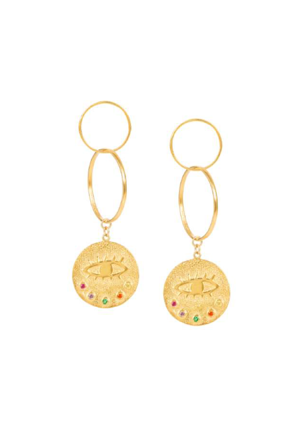 KRESSIDA INFINITY GOLD EARRINGS - JUSTBRAZIL