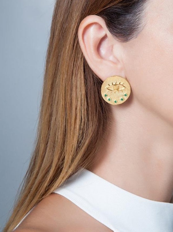 KRESSIDA LARGE PIN EARRINGS - JUSTBRAZIL