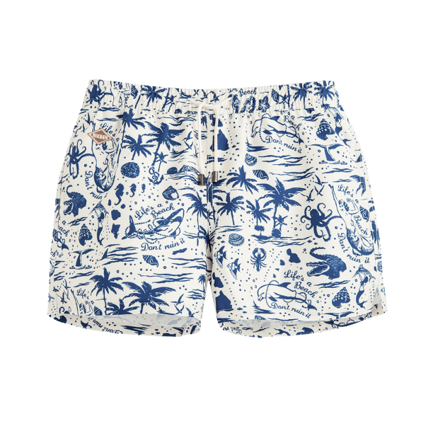 LIFE'S A BEACH SWIM SHORTS - JUSTBRAZIL