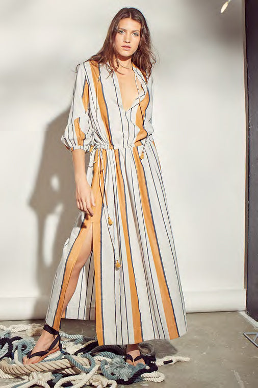JEROMINE STRIPED DRESS - JUSTBRAZIL