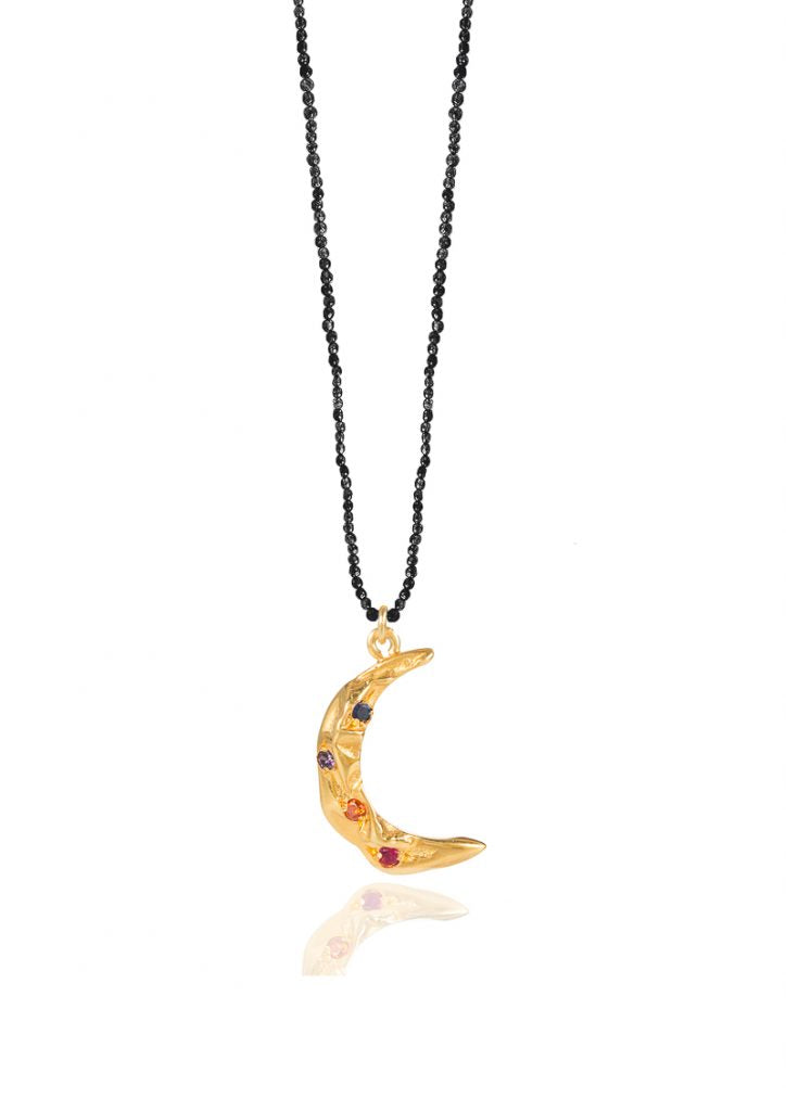 MELIES MOON STARDUST BLACK NECKLACE - JUSTBRAZIL