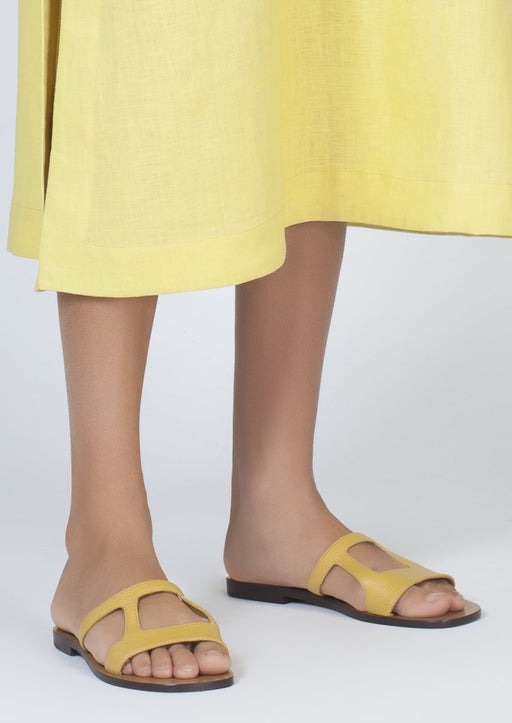 HEPHAESTUS YELLOW CALF SANDALS