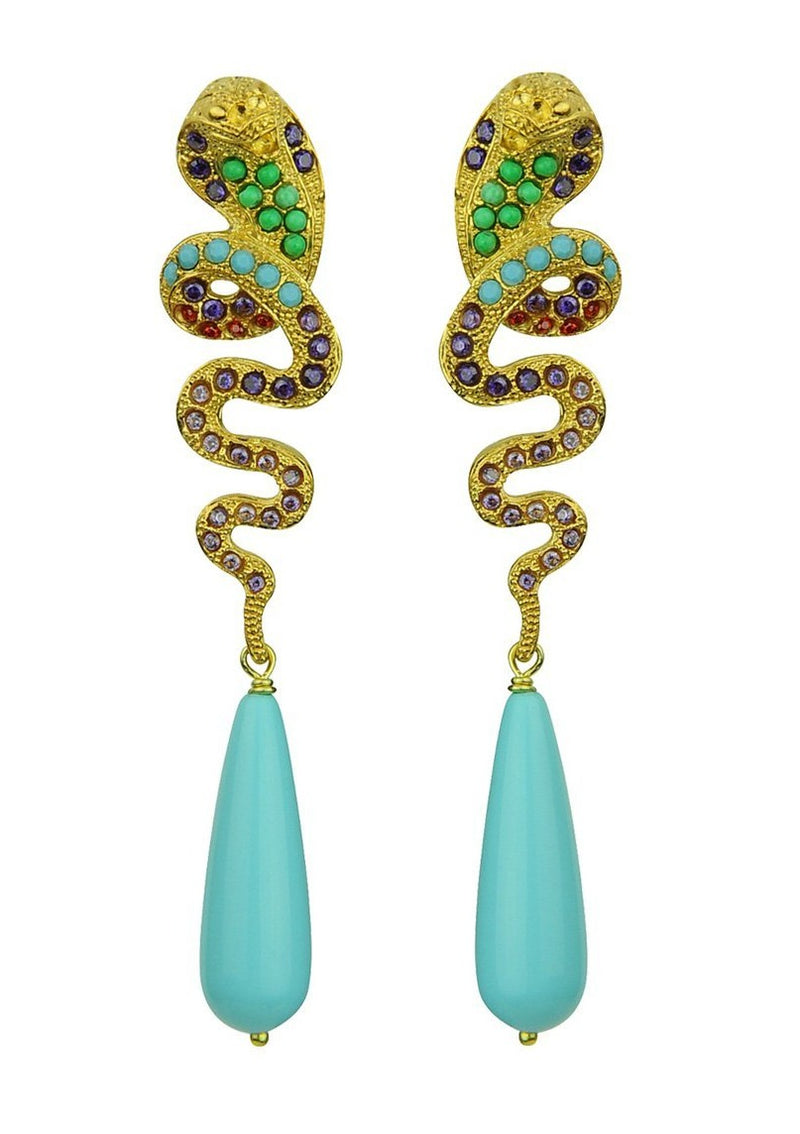 NUWA SNAKE EARRINGS - JUSTBRAZIL