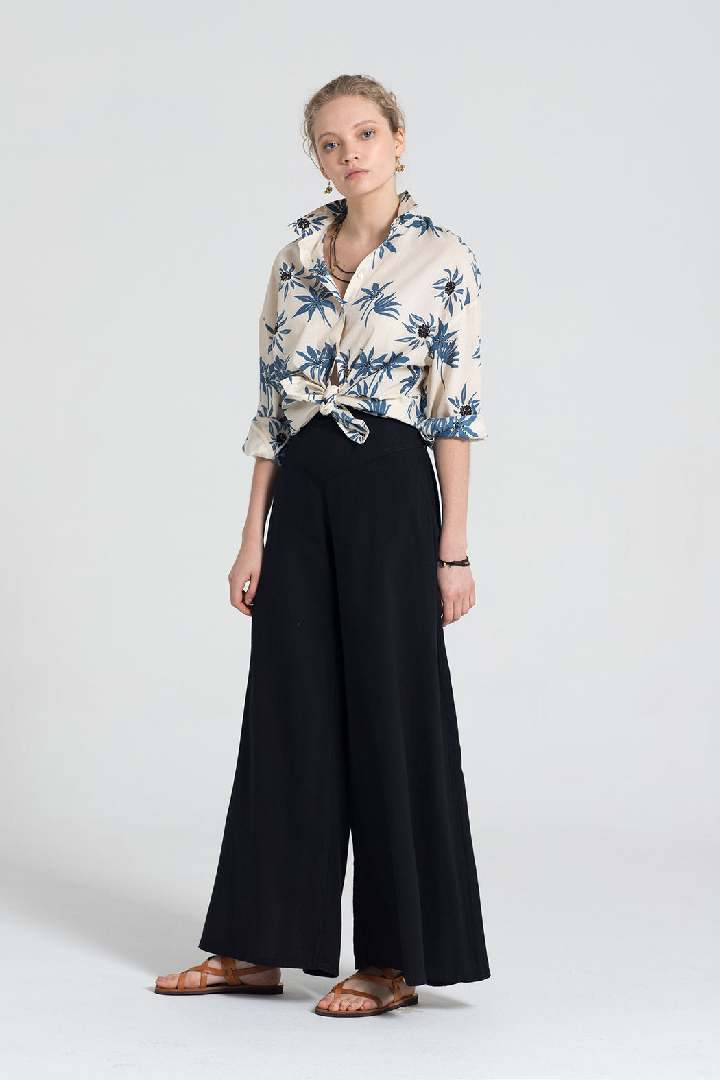 PALAZZO BLACK TROUSERS