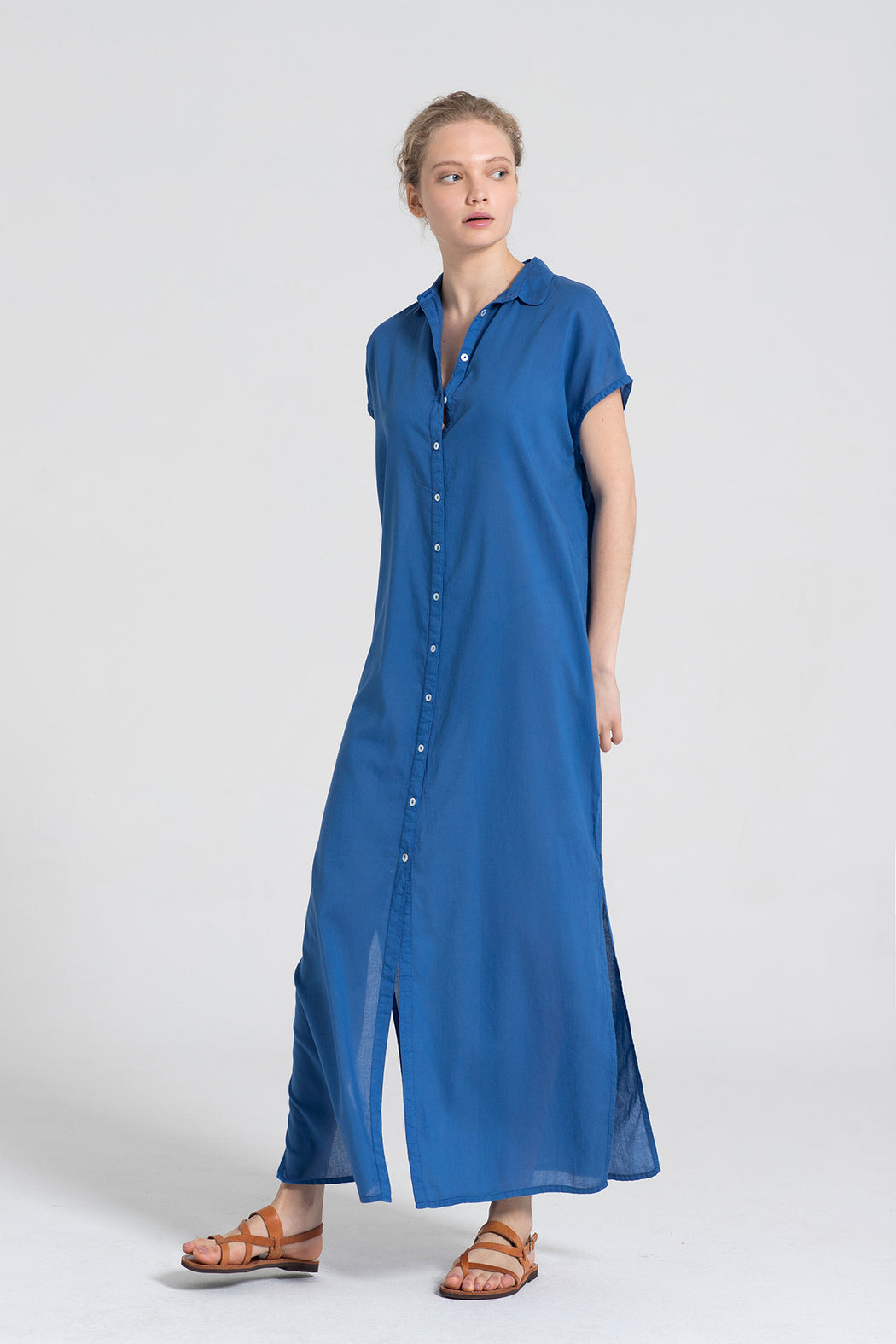 SLEE LONG SHIRT DRESS