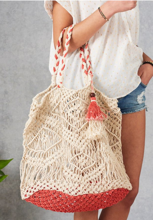 SALENA MACRAME CORAL BAG