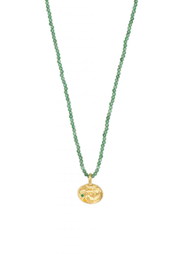 SEALSTONE ANIMAL EMERALD NECKLACE - JUSTBRAZIL