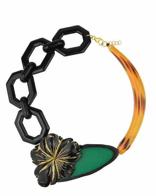 MEMPHIS YELLOW MURANO NECKLACE