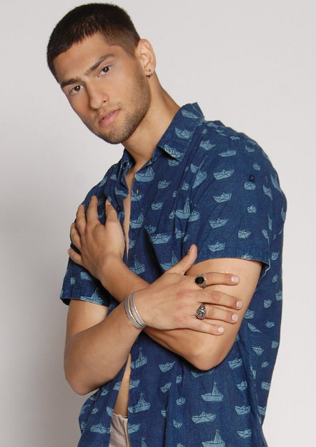 VAPORI SHORT SLEEVES BLUE SHIRT - JUSTBRAZIL