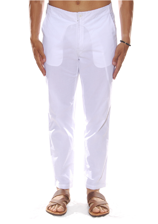 SUMMER TROUSERS WHITE - JUSTBRAZIL