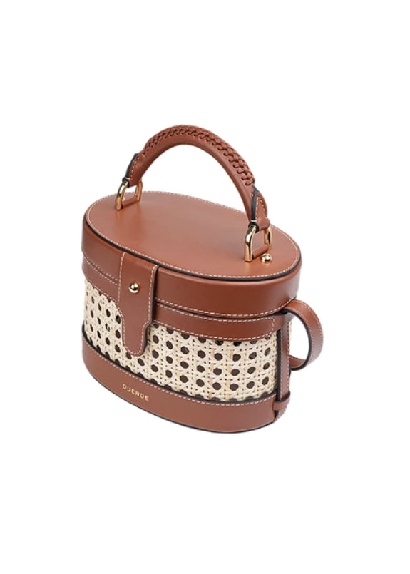 LOLA BROWN BAMBOO LEATHER BAG - JUSTBRAZIL