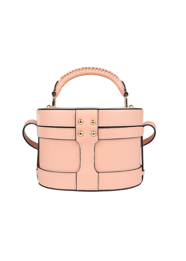LOLA NUDE LEATHER BAG - JUSTBRAZIL