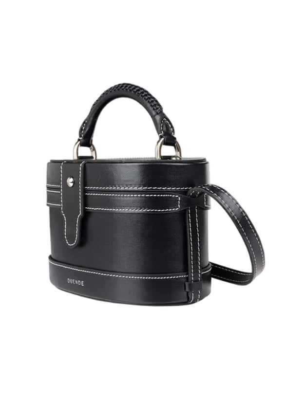 LOLA BLACK LEATHER BAG - JUSTBRAZIL