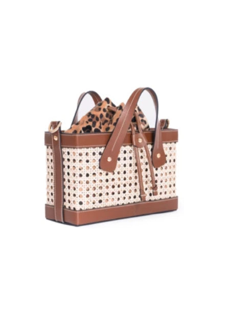 LEO CAMEL BAMBOO LEATHER BAG - JUSTBRAZIL
