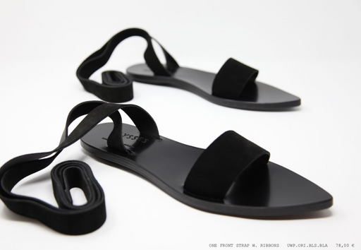 FRONT STRAP RIBBON SANDALS