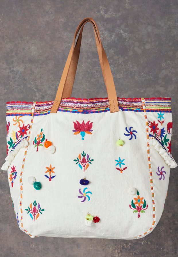 TAARA EMBROIDERED MULTI TOTE BAG