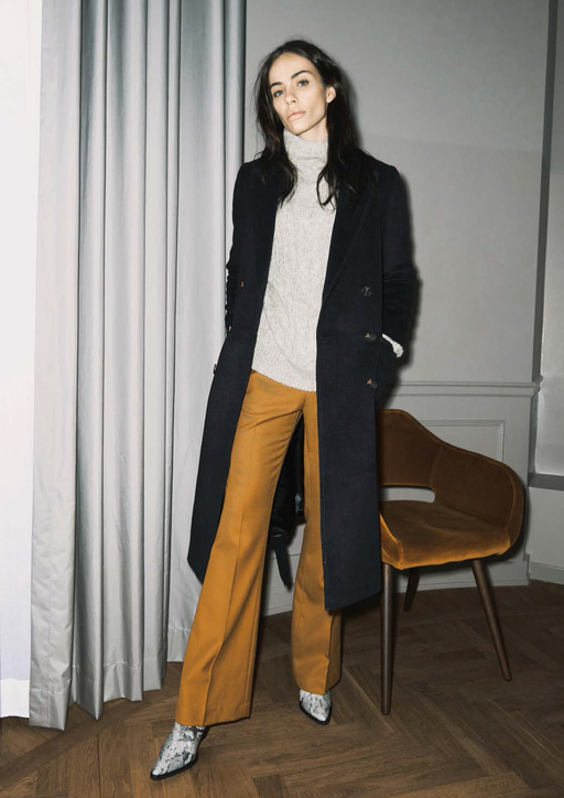 VENDELA MUSTARD TROUSERS