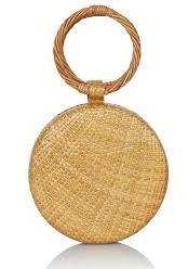 SERENA STRAW ROUND TOAST BAG