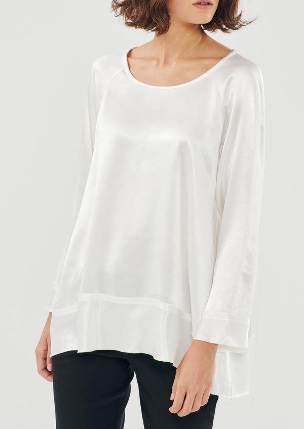 PERLA WHITE LONG SLEEVES TOP - JUSTBRAZIL