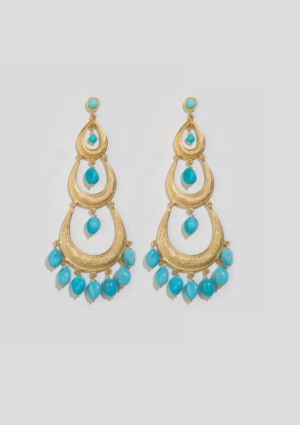 EOS TURQUOISE EARRINGS - JUSTBRAZIL