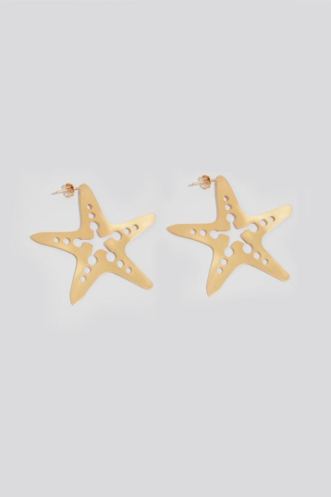 STARFISH HOOP LARGE EARRINGS - JUSTBRAZIL