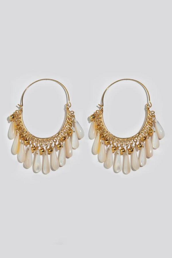 SOPHIA MOTHER OF PEARL DROPS  EARRINGS - JUSTBRAZIL
