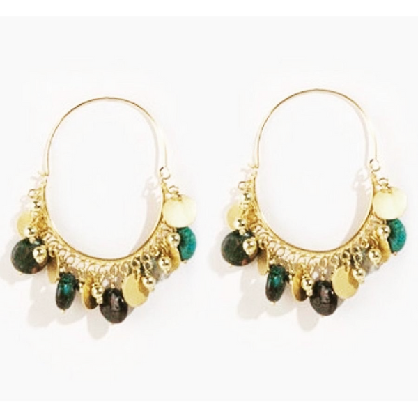 SOPHIA CHRYSOCOLLA EARRINGS - JUSTBRAZIL
