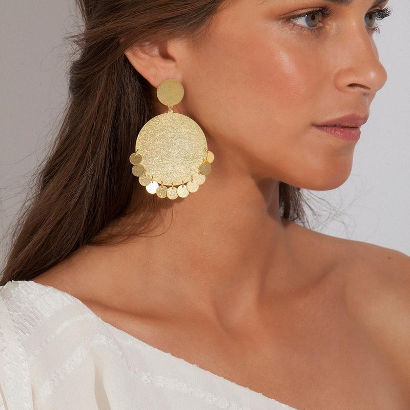 SELENE GOLD EARRINGS - JUSTBRAZIL