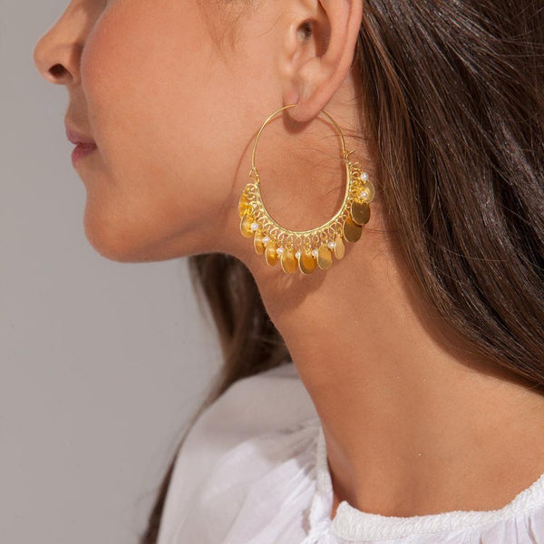 SOPHIA COIN PEARL EARRINGS - JUSTBRAZIL