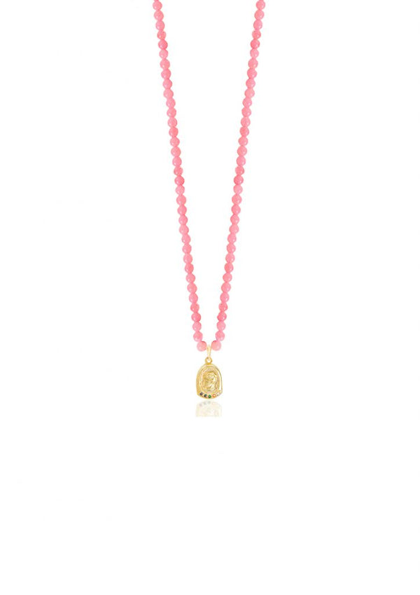 YGEIA PINK NECKLACE - JUSTBRAZIL