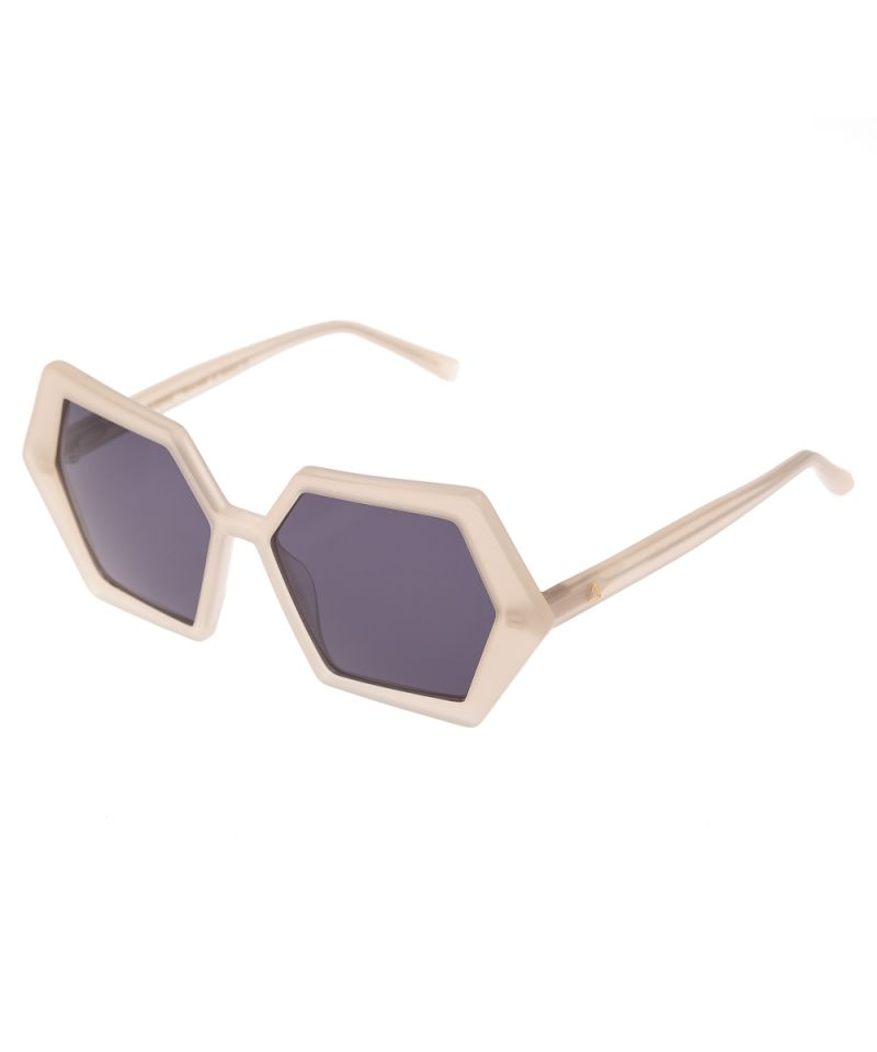 HEXAGON IVORY SUNGLASSES - JUSTBRAZIL