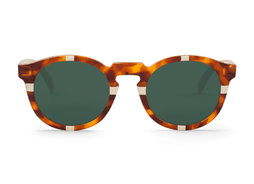 CROSS CREAM/LEO TORTOISE JORDAAN CLASSICAL LENSES - just-brazil