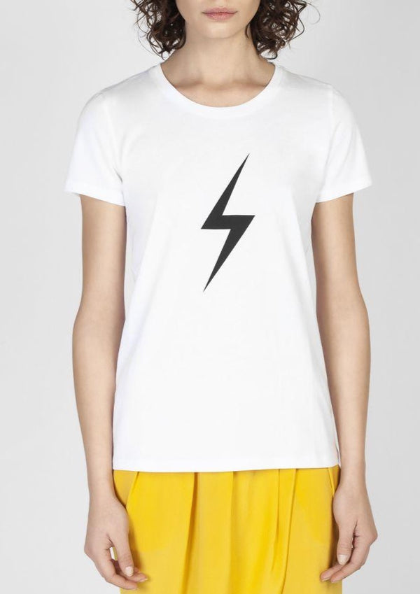 THUNDER WHITE/BLACK  T-SHIRT - JUSTBRAZIL