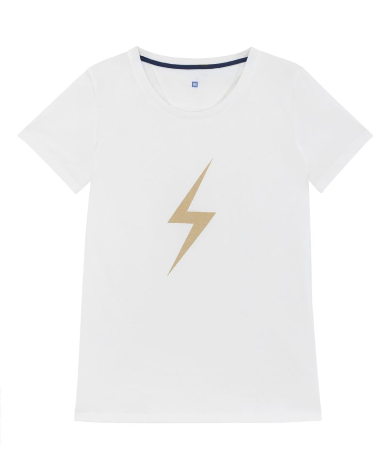 THUNDER WHITE/GOLD T-SHIRT - JUSTBRAZIL