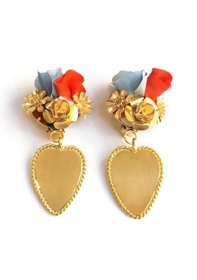FRIDA RED EARRINGS - JUSTBRAZIL