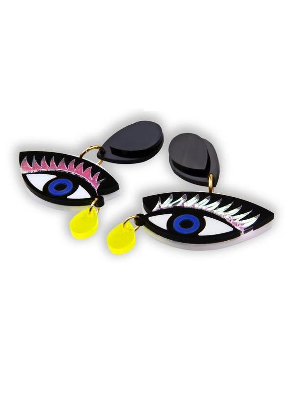 EYE ON YOU BLUE EARRINGS - JUSTBRAZIL