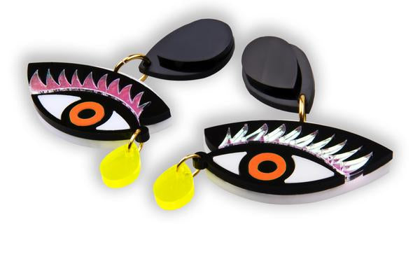 EYE ON YOU ORANGE EARRINGS - JUSTBRAZIL