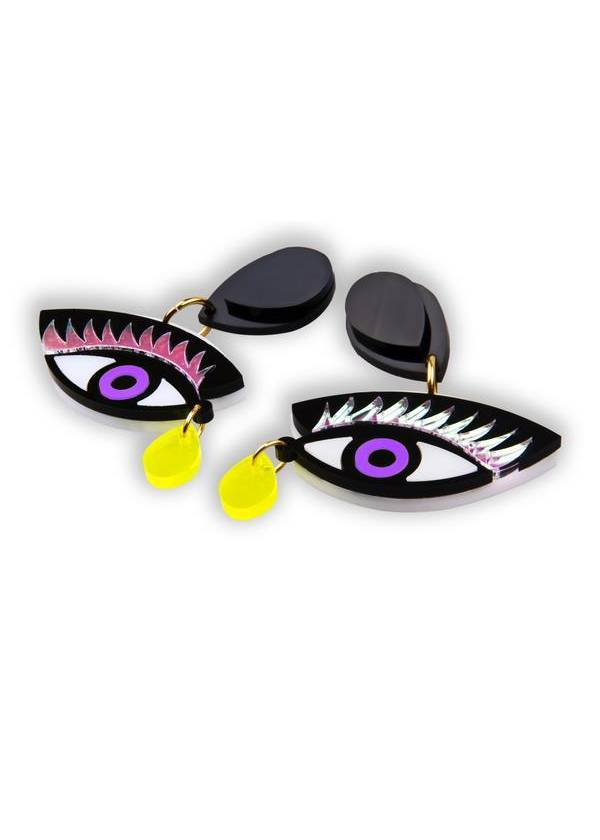 EYE ON YOU PURPLE EARRINGS - JUSTBRAZIL