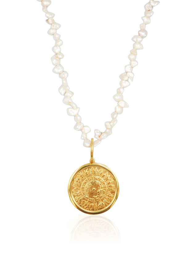 SHIELD OF ACHILLES PEARL NECKLACE - JUSTBRAZIL