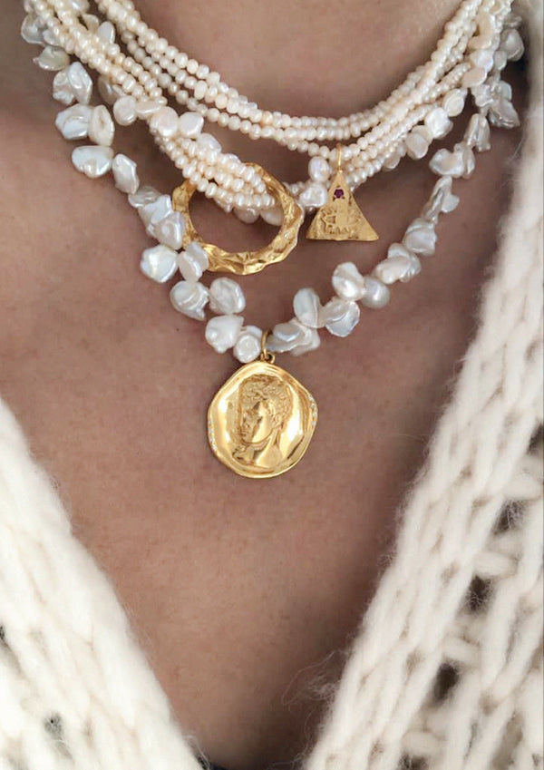 HERMES LUSTRE LARGE PEARLS NECKLACE - JUSTBRAZIL