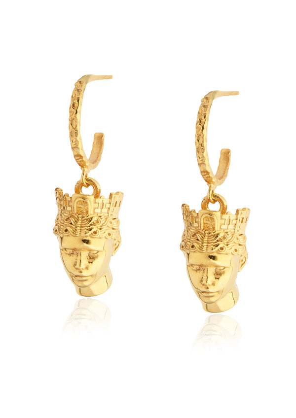 TÝCHE SMALL HEAD HOOP EARRINGS - JUSTBRAZIL