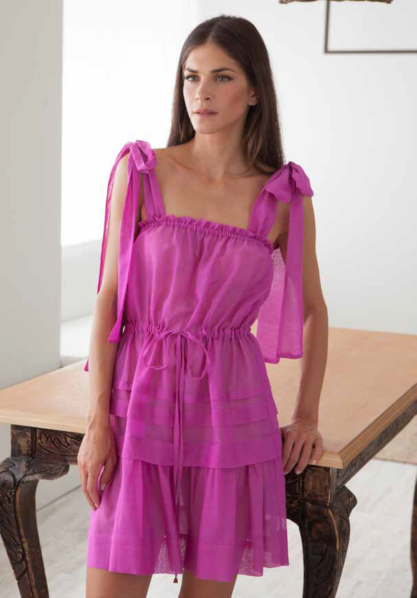 MYKONOS FUCHSIA MINI DRESS - JUSTBRAZIL