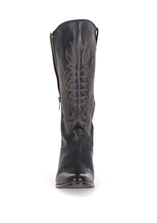 BENEDITA LEATHER ZIP HIGH BOOT - JUSTBRAZIL